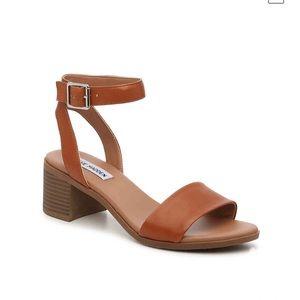 Steve Madden Kenny Cognac Block Heel Sandals